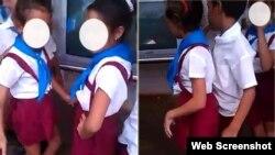 Una escena del polémico video en el que los niños adoptan posiciones sensuales, propias de adultos.