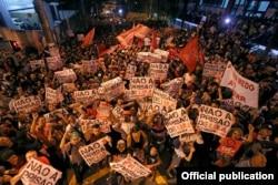 Seguidores de Lula dicen que impediran su detención. Foto Sindicato de los Metalúrgicos del ABC.