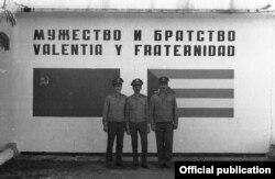 Soldados rusos en la Base Lourdes.