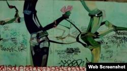 'Cubanos tras el Muro de Berlín'