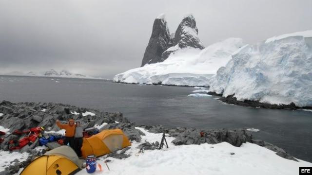 La Antártida.