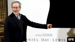 """El director estadounidense Steven Spielberg durante la presentación de su última película """"Lincoln""""."""
