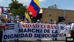 """""""Marcha de la Dignidad Democrática""""."""