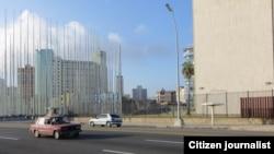 Reporta Cuba. Embajada de EEUU en La Habana; amanecer del 20 julio. Foto: Nilo Alejandro.