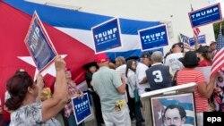 Cubanos en el exilio apoyaron a Donald Trump en su campaña presidencial.