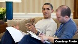 Obama y Ben Rhodes, asesor de seguridad nacional y uno de los negociadores con Cuba.