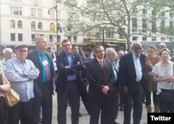 Delegación cubana @LASA2016. De izq. a der. Miguel Barnet, Arturo López Levy y José Ramón Cabañas.