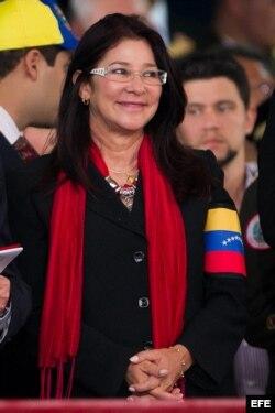 Cilia Flores, esposa de Nicolás Maduro, durante un desfile militar con motivo del Día de la Independencia Nacional en 2013.