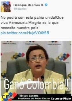 Tibisay Lucena, presidenta del Poder Electoral, es la protagonista de este meme.