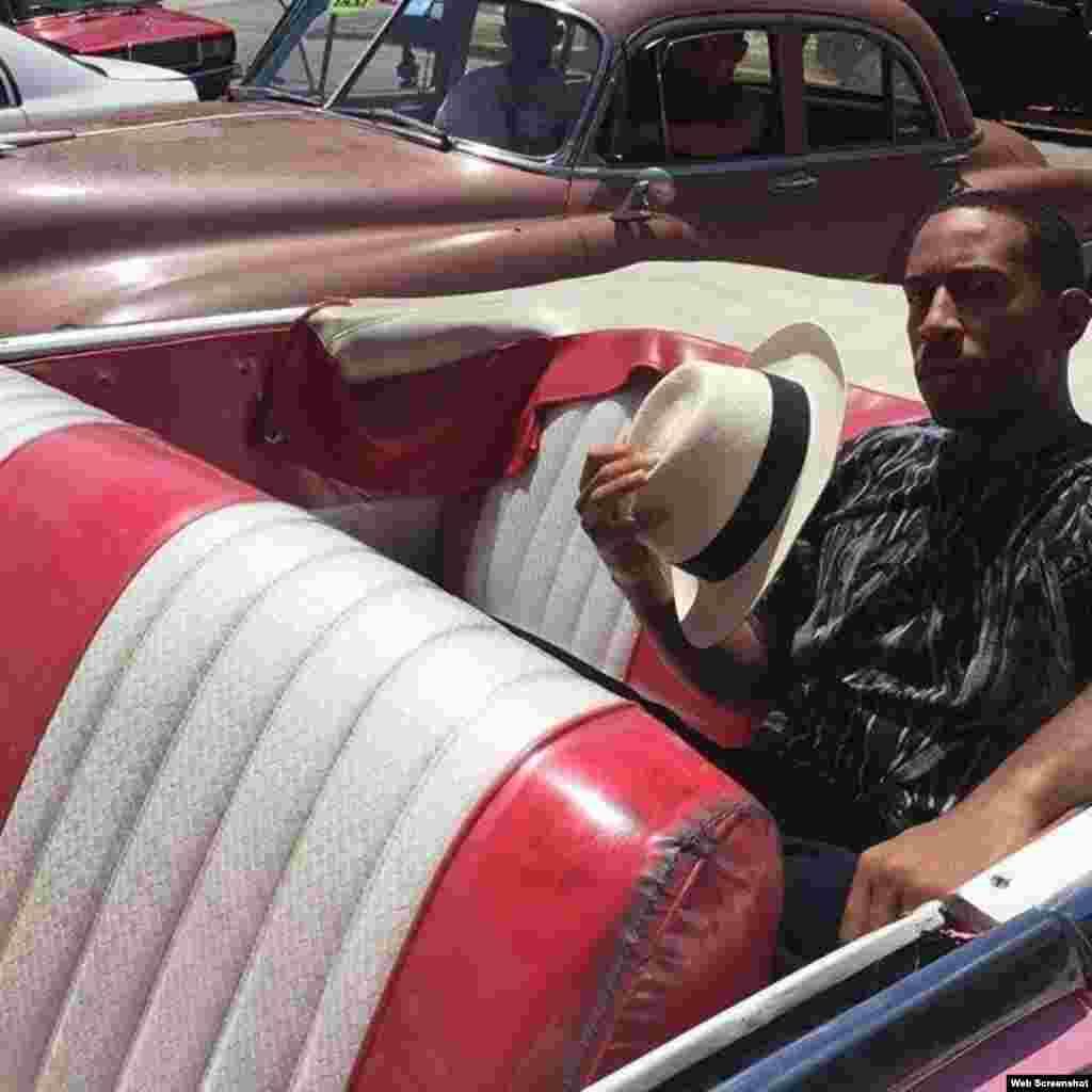 El rapero y actor Ludacris difundió en sus redes sociales esta imagen en La Habana.
