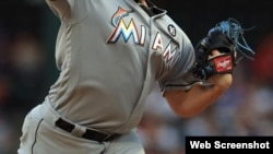 Uniforme de los Miami Marlins.