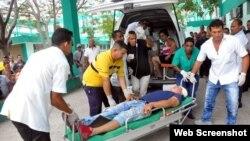 Trasladan a heridos en accidente de tránsito ocurrido en la provincia de Santiago de Cuba.