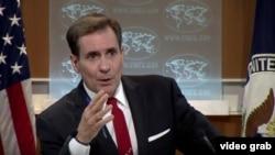 El vocero del Departamento de Estado de EEUU, John Kirby.