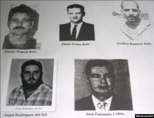 Fotografías de los fusilados en la Causa Causa 829 de 1960.