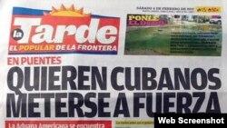 Periódico La Tarde, el popular de la frontera.