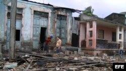Destrucción tras el paso del huracán Sandy.