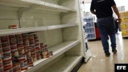 Mercados vacíos en Venezuela.