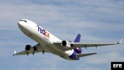 Un avión FedEx.