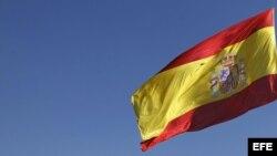 La bandera de España.