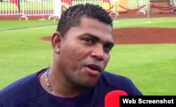 El lanzador cubano Amauri Sanit.