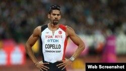 Yasmani Copello, ganador de medalla de plata en el Campeonato Mundial de Londres-2017.
