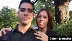 Carlos Amel Oliva y la esposa Katerine Mojena