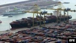 El buque de transporte Zim Mediterranean Valleta de la empresa israelita Zim Israel Navigation.