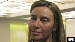 Federica Mogherini, jefa de la diplomacia de la Unión Europea.