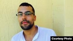 Periodista venezolano Frank López Ballesteros este lunes en Miami (foto Jorge Ignacio Pérez)