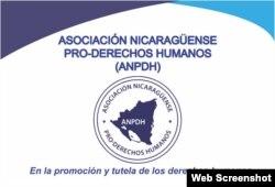 Logo de la Asociación Nicaragüense Pro Derechos Humanos.