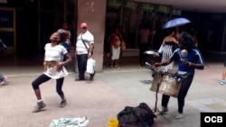 Yakelin y Fabre en Santiago de Cuba.