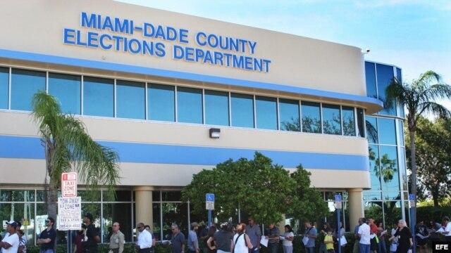 Miami-Dade registró un récord de participación, al salir a votar 65 por ciento de los electores del condado.