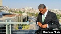 Oscar Elías Biscet durante su visita a Jerusalén, en agosto de este año.