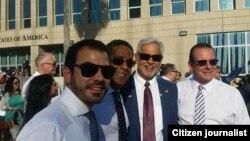 Facebook Freddy Balsera junto a Hugo Cancio, Ralph Patino, y Erman Echeverría en La Habana