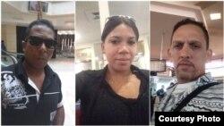 Reporteros de Palenque Visión Isael Poveda, Yaremis Buqueriget y Rolando Rodríguez