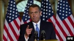 El presidente de la Cámara de Representantes de EE.UU., el republicano John Boehner