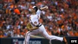 Chris Tillman, pitcher de los Orioles de Baltimore.