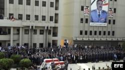 Funeral por el jefe de los servicios secretos de la Policía, general Wisam al Hasan, asesinado en un atentado con coche bomba en Beirut, Líbano.