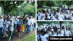 Campaña #TodosMarchamos. Opositores antes del arresto el 22 de noviembre en La Habana. Foto: Ángel Moya.