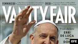 """Fotografía facilitada por la revista Vanity Fair de la portada de su edición italiana protagonizada por el papa Francisco, al que ha elegido """"hombre del año"""". La revista dedica al pontífice la portada de su último número, que saldrá mañana"""