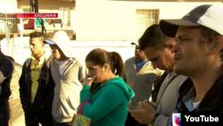 Cubanos varados en Nuevo Laredo. (Univision 23)