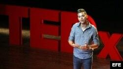 El abogado Manuel Vázquez participa en la primera edición del TEDx Habana. EFE