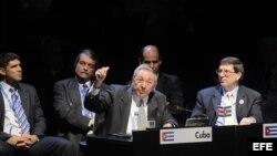 Raúl Castro interviene en la sesión plenaria de la cumbre de la Comunidad de Estados Latinoamericanos y Caribeños (Celac), en Santiago de Chile.
