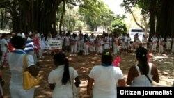 Reporta Cuba Damas de Blanco Foto Angel Moya
