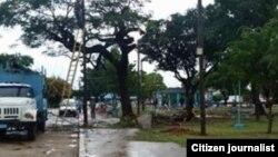 Reporta Cuba. Obras de ampliación de zona Wi-Fi, en Playa, Ciudad Habana. Foto: Arcelio Molina.