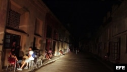 Archivo. La Habana a oscuras.