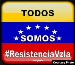 Cartel de la resistencia venezolana.