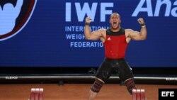 El cubano chileno Arley Méndez, campeón mundial en la categoría de los 85 kilos.