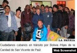 Decenas de cubanos han sido asistidos por religiosas bolivianas en la frontera con Chile.