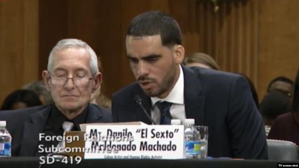 """Danilo El Sexto"""" Maldonado en su intervención en el Subcomité de Relaciones Enteriores de EEUU"""